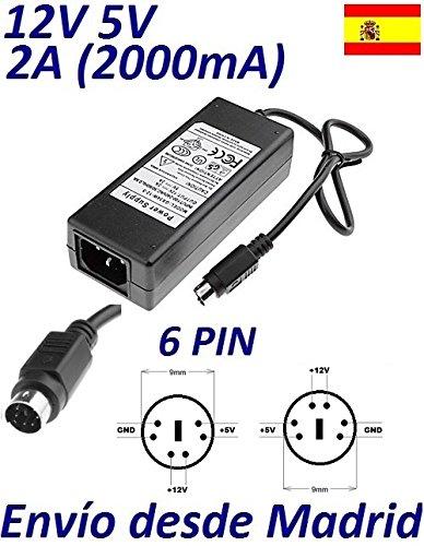 Cargador Corriente 12V 5V 2A 6 PIN DIN Reemplazo Modelo GPS ...