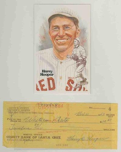 Harry Hooper Autograph Check Perez Steele JSA Certified PSA/DNA Certifieddna