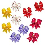 PET SHOW Pet Dog Hair Bows with Rubber Bands for Small Dogs Cats Topknot Headdress Puppy Yorkie Teddy Hair Grooming Accessories Pack of 10pairs