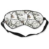 Sleep Mask White Realtree Camo Eye Cover Blackout Eye Masks,Soothing Puffy Eyes,Dark Circles,Stress,Breathable Blindfold For Women Men