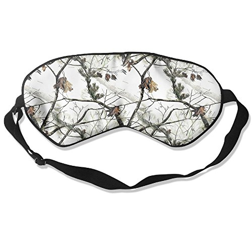 Sleep Mask White Realtree Camo Eye Cover Blackout Eye Masks,Soothing Puffy Eyes,Dark Circles,Stress,Breathable Blindfold For Women Men by MB32