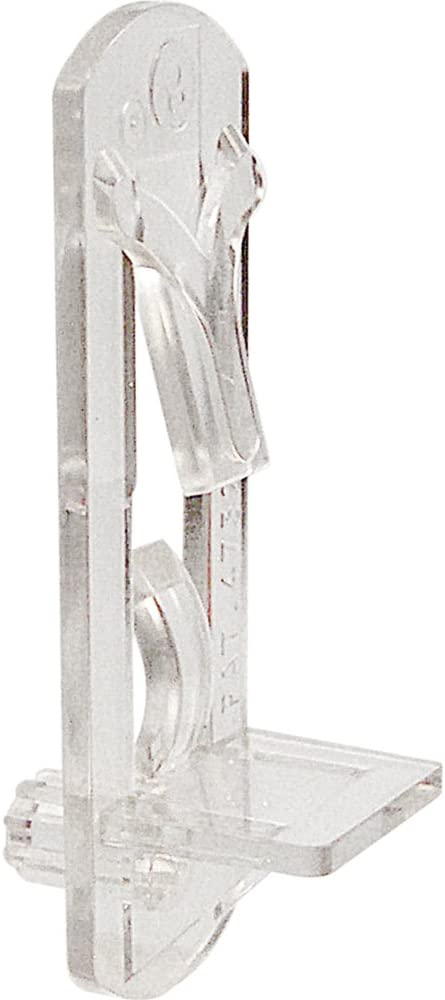 Prime-Line R 7316 Locking Shelf Pegs, 1/4 in. Peg x 1/2 in. Shelf, Plastic, Clear (Pack of 6): Home Improvement