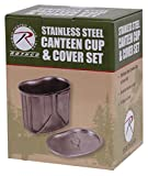 Rothco Stainless Steel Canteen Cup and Cover Set