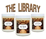 Scented Candles The Library Set - Includes Antique Books, New Books and Ancient Scrolls - 3 x 4 ounce Soy Scented Candles Literary Gifts For Book Nerds