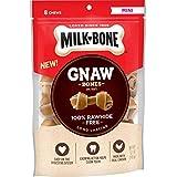 Milk-Bone Gnaw Bones Knotted Bones, Rawhide-Free, Chicken, Mini, 5.1 oz (Pack of 4)