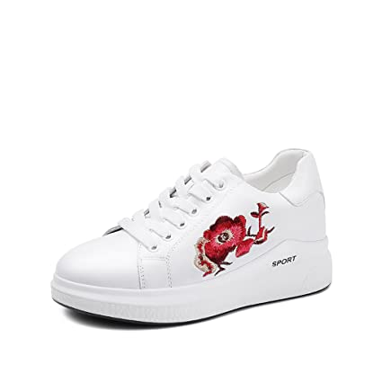 665cc27157190 Amazon.com: Tsing Yi Fashion Embroidery Casual Shoes Leather Women ...