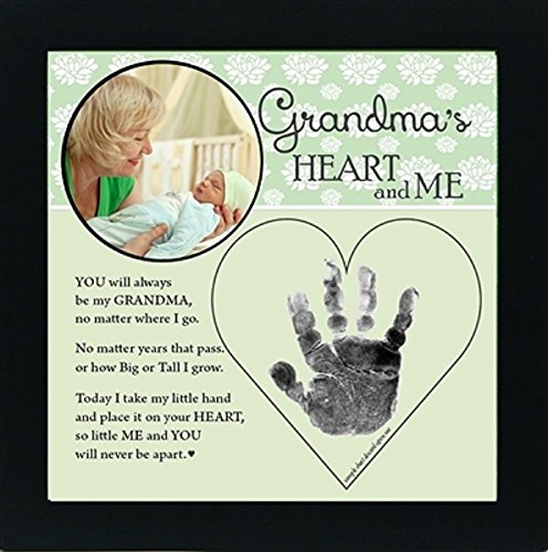 Baby Child Keepsake Handprint Frame with Poetry - Mommy, Daddy, Grandma or Grandpa (Grandpa)]()