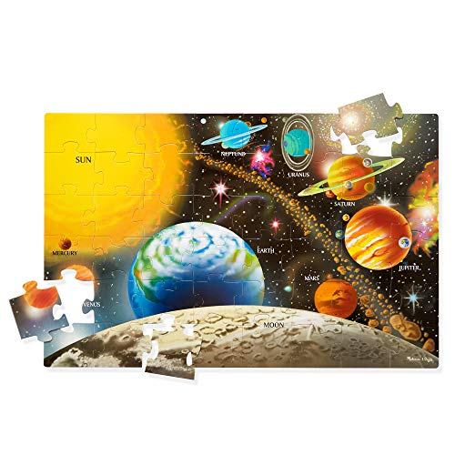 "Melissa & Doug Solar System Floor Puzzle (Floor Puzzles, Easy-Clean Surface, 48 Pieces, 36"" L x 24"" W, Great Gift for Girls and Boys - Best for 3, 4, 5, and 6 Year Olds)"