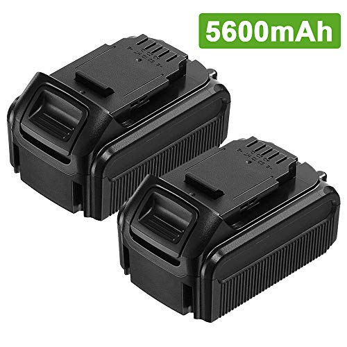 Upgraded 5600mAh for Dewalt 20V Battery Replace 20 Volt Lithium-ion DCB205 DCB205-2 DCB206 DCB207 DCB204 DCB203 DCB201 DCB200 DCB180 DCD/DCF/DCG/DCS Series