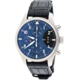 IWC Pilot's Fliegeruhr Chronograph Day-Date 43mm Black Dial Steel Watch IW377701