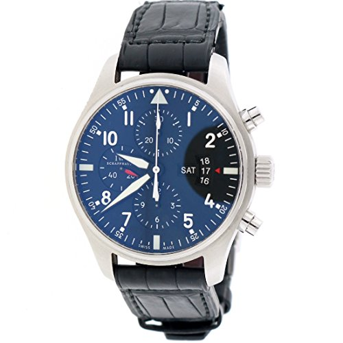 IWC-Pilots-Fliegeruhr-Chronograph-Day-Date-43mm-Black-Dial-Steel-Watch-IW377701