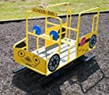 Spring Riding Gus The Bus, Outdoor Playground Equipment Children's Riding School Bus Toy