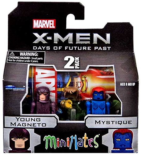 Marvel Minimates X-Men Days of Future Past Series 58 Mini Figure 2-Pack Young Magneto & Mystique (X Men Days Of Future Past Date)