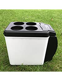 SL&BX Mini kühlteil, Car refrigerator mini fridge car 6l12v black portable retro -fit bedroom,Office or dorm and outdoor-black 25x30x16.5cm(10x12x6inch)