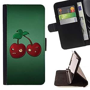 - Evil Cherry/ Personalizada del estilo del dise???¡¯???¡Ào de la PU Caso de encargo del cuero del tir???¡¯????n del s - Cao - For Samsung Galaxy S5 V SM-