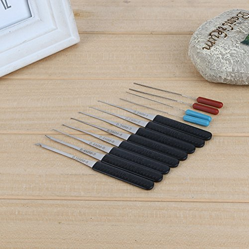 Sareepe 12Pcs Fold Pick Tool Broken Key Remove Auto Locksmith Tool Key Extractor Set Lock Hardware Handle DIY Hand Tools NG4S