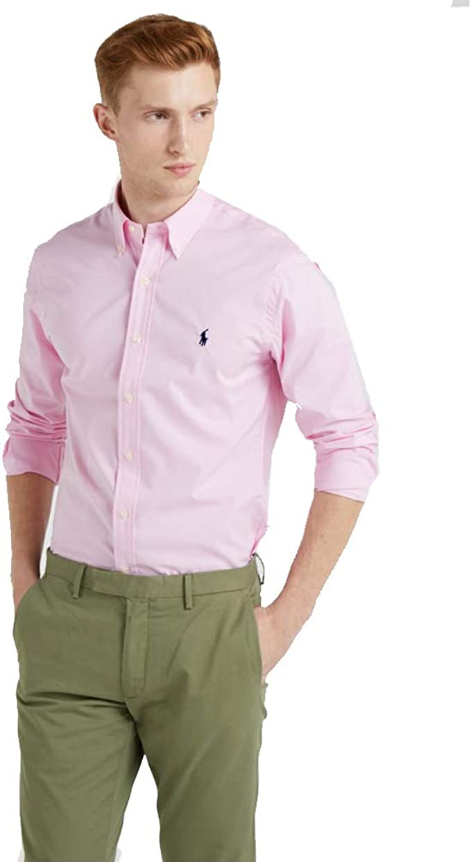 Ralph Lauren Camisa Custom Fit (XL, New Rose): Amazon.es: Ropa y accesorios