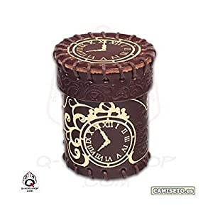 Steampunk Brown Leather Dice Cup by Q-Workshop