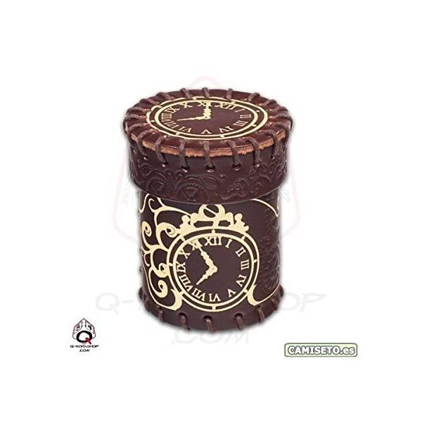 Steampunk Brown Leather Dice Cup by Q-Workshop 3