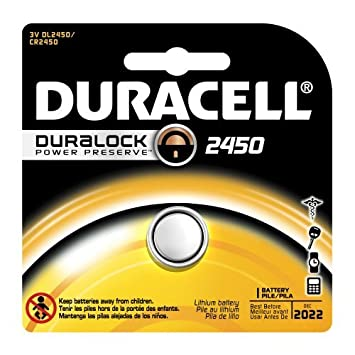 amazon com duracell dl2450 lithium coin battery 2450 size 3v rh amazon com
