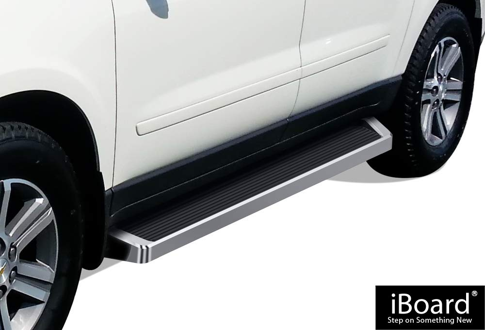 Off Roader Eboard Running Board 6 Silver Fits 2007-2017 Chevy Traverse /& 2007-2010 Saturn Outlook /& 2007-2009 Buick Enclave Nerf Bar | Side Steps | Side Bars