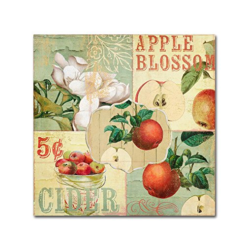 Apple Blossoms I by Color Bakery, 14x14-Inch Canvas Wall Art