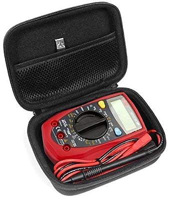 Funda multímetro digital para Etekcity MSR-R500, AstrolAI, Craftsman multímetro, 34-82141, Crenova MS8233D, medidor de detección de sensor de celda EMF, sensor EMF, bolsillo de malla WeePro Vpro850L: Amazon.es: Amazon.es
