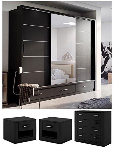 sliding door bedroom furniture. Brand New Modern Bedroom Furniture Set ARTI 1 Sliding Door Wardrobe 250cm, Chest Of Drawers