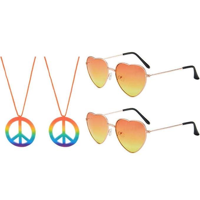 2 piezas de gafas de sol y 2 piezas del signo de la paz ...
