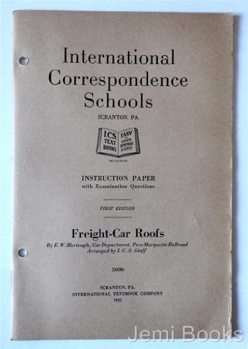 Freight-Car Roofs (International Correspondence Schools) (Car Roof Freight)