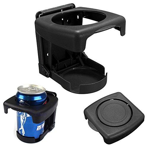 Car Vehicle Truck Folding Beverage Drink Bottle Can Cup Holder Stand Mount (Black)