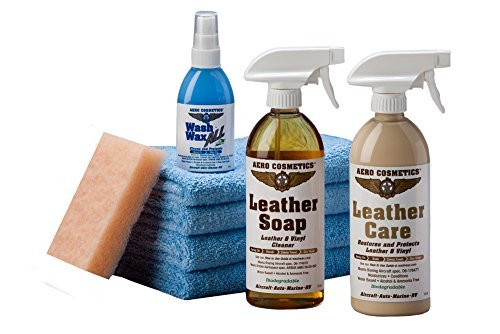 Leather Care Kit Aircraft Quality for your RV Car Boat and Furniture Meet Boeing Aircraft Cleaning Specs.