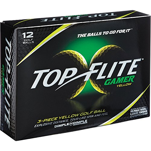 Top-Flite Gamer 3-Pieace Golf Ball Dimple in Dimple (Yell...