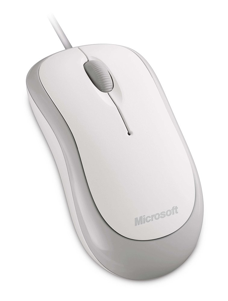 Microsoft Basic Optical Mouse for Business - White (4YH-00006) by Microsoft