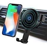 Wireless Car Charger Mount, Hzmirzk Gravity Car Mount Air Vent Phone Holder, 10W Fast Charge for Samsung Galaxy S9/S8/S7 Edge/Note 8, Standard Charge for iPhone X/8 Plus/8 or other Qi Enabled Devices