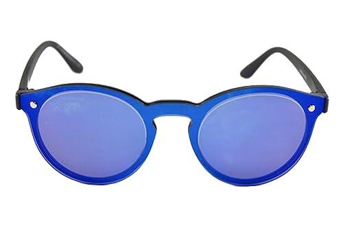 Gafas Redondas Espejo Azul Sin Montura: Amazon.es: Zapatos y ...