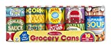 Melissa & Doug Lets Play House! Grocery Cans Play Food Kitchen Accessory - 10 Stackable Cans With Removable Lids