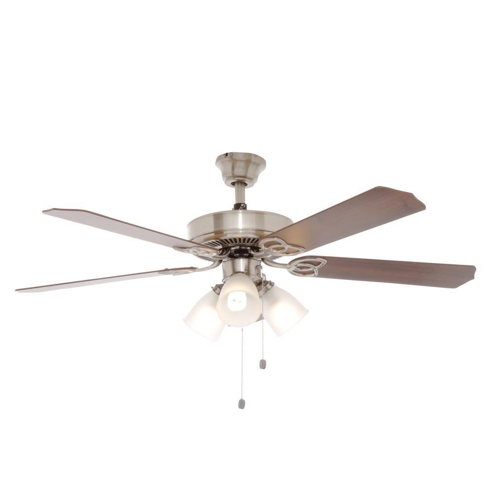 Hampton Bay Brookhurst 52 In. Indoor Oil Rubbed Bronze Ceiling Fan      Amazon.com