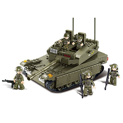 Sluban Merkava Tank 343 Pieces Building Blocks Set (Lego Tank)