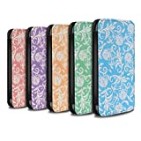 STUFF4 PU Leather Wallet Flip Case/Cover for Apple iPhone X/10 / Pack (10 Designs) Design / Floral Pattern Collection