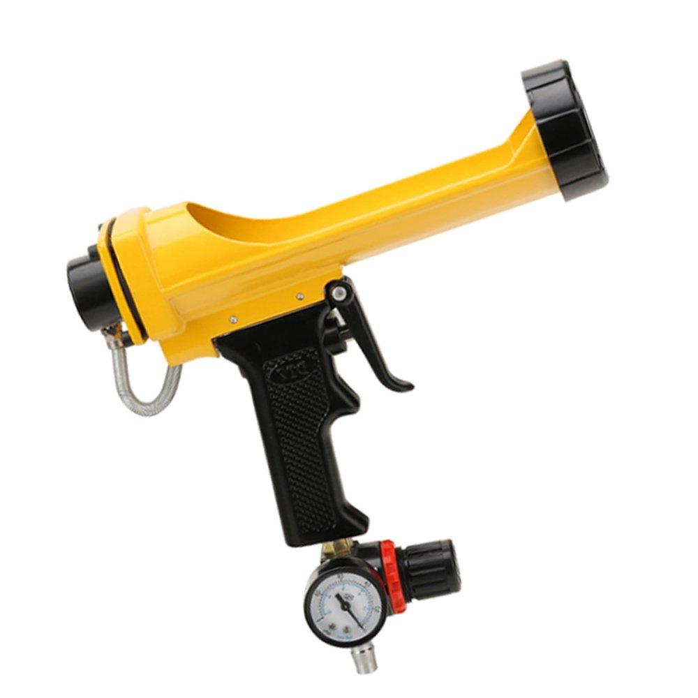 Pneumatic Caulk Gun 10.3-Ounce Cartridge with Air pressure regulator(Golden)