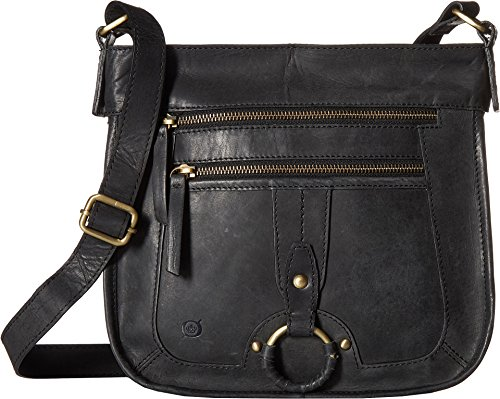 Born Womens Riverton Distressed Leather Black One Size Born Black Leather
