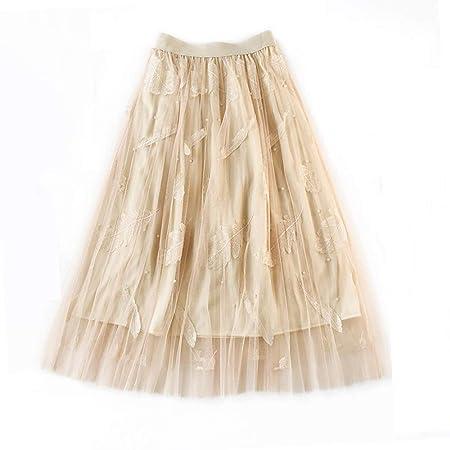 Falda Las mujeres con gradas falda de malla de color sólido Ballet ...