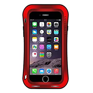 L.L.BEAR LOVE MEI for iPhone 7 Plus Waistline Triobump Professional and Powerful Dustproof Shockproof Anti-slip Metal Protective Case ( Color : Red )