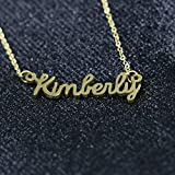 Awegift Name Necklace Big Initial Gold Plated Best