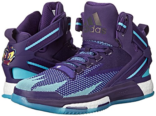 104c12c7b18a adidas Performance Men s D Rose 6 Boost Primeknit Basketball Dark Purple Blast  Purple Blue 10.5 D(M) US  Buy Online at Low Prices in India - Amazon.in