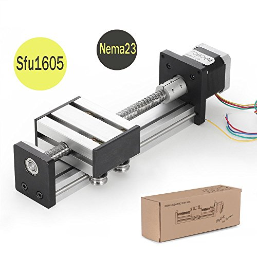 100mm Travel Length Linear Stage Actuator DIY CNC Router Parts X Y Z Linear Rail Guide Sfu1605 Nema23 Stepper Motor by Beauty -