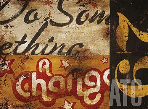 ArtToCanvas 38W x 28H inches : for A Change by Rodney White - Canvas