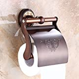 The Nordic style full bathroom towel rack copper WC ORB roll paper 5 Kim bath creative waterproof toilet paper tray