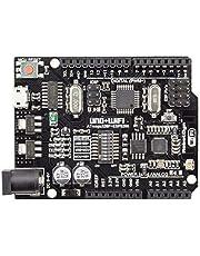 UNO، WiFi R3 ATmega328P،ESP8266 (ذاكرة 8 ميجا بايت)، متوافق مع Arduino Uno، NodeMCU ،WeMos ESP8266